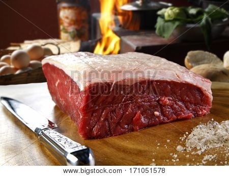 Raw steak