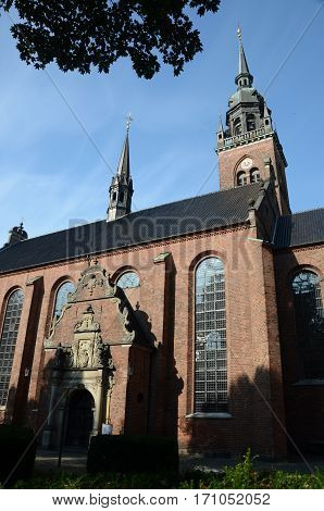 An external view of a church in Copenhagen