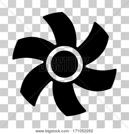 Rotor icon. Vector illustration style is flat iconic symbol black color transparent background. Designed for web and software interfaces.