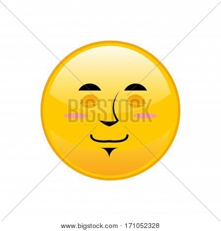 Sleeping Emoji Isolated. Asleep Yellow Circle Emotion Isolated