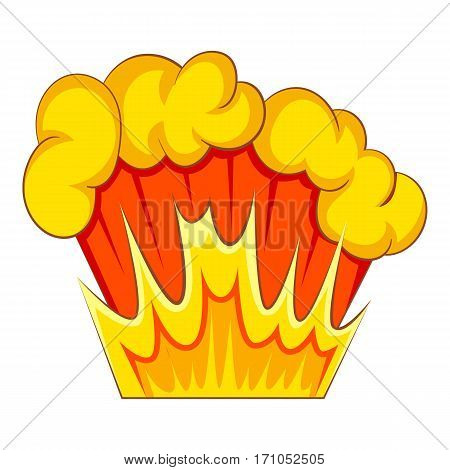 Bomb explosion icon. Cartoon illustration of bomb explosion vector icon for web