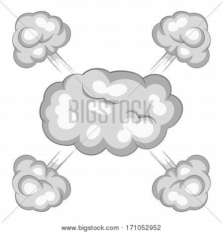 Explosion cloud icon. Cartoon illustration of explosion cloud vector icon for web
