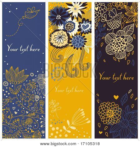 Carton floral banners