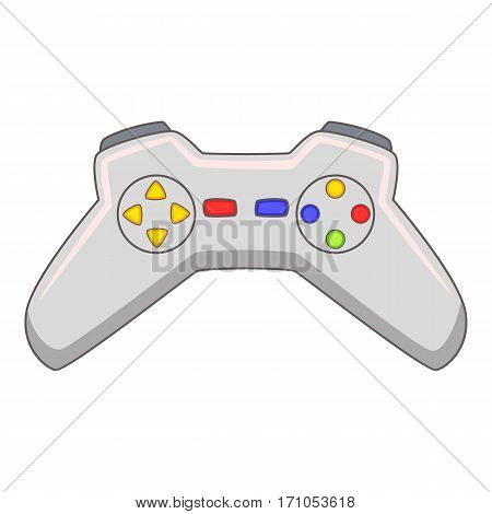 Video game controller icon. Cartoon illustration of video game controller vector icon for web