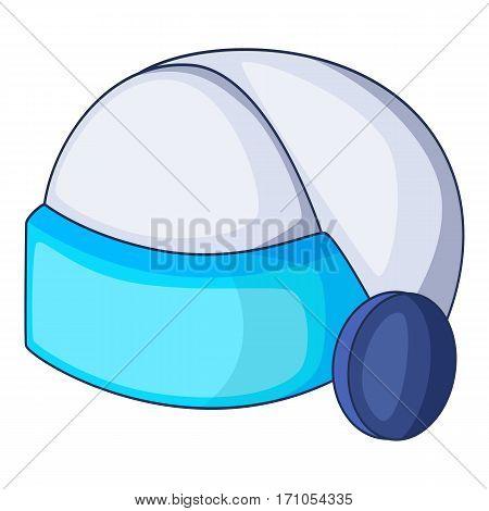 Virtual reality helmet icon. Cartoon illustration of virtual reality helmet vector icon for web