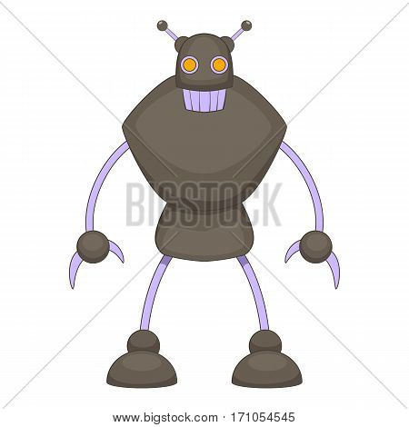 Robot warrior icon. Cartoon illustration of robot warrior vector icon for web