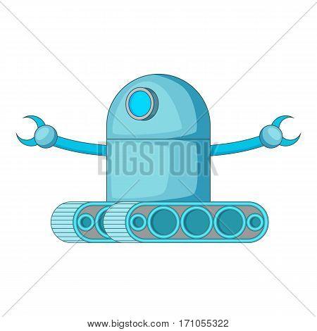 Machine robot icon. Cartoon illustration of machine robot vector icon for web