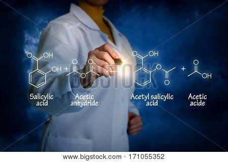 Biochemist Writes The Formula.