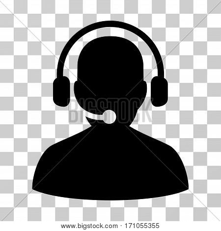 Telemarketing icon. Vector illustration style is flat iconic symbol black color transparent background. Designed for web and software interfaces.