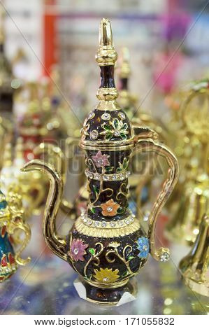 Traditional oriental lamp small present for sale in Dubai. United Arab Emirates Middle East
