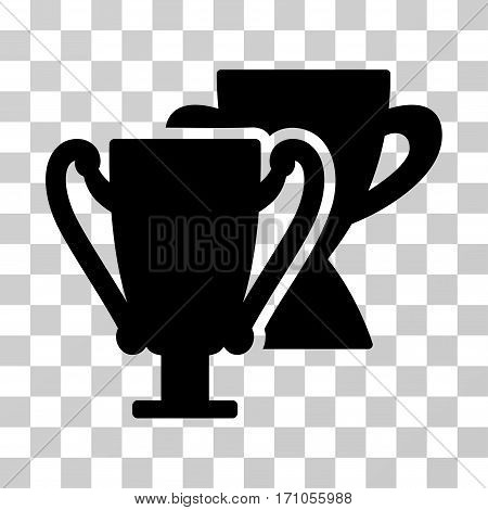 Trophy Cups icon. Vector illustration style is flat iconic symbol black color transparent background. Designed for web and software interfaces.