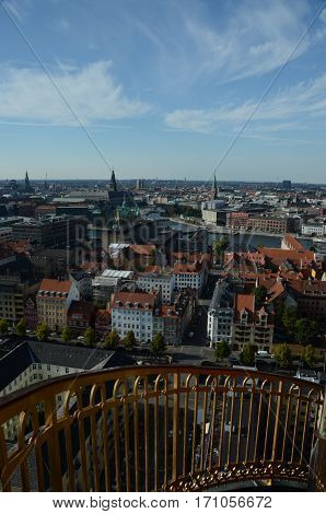 A view over the city of Copenhagen