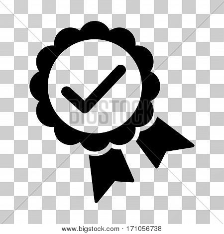 Validity Seal icon. Vector illustration style is flat iconic symbol black color transparent background. Designed for web and software interfaces.