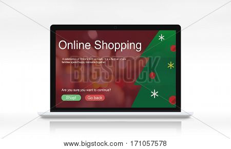 Merry Christmas Big Sale Concept