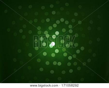 Green lights. real photo. Dark bokeh. The Dark Background
