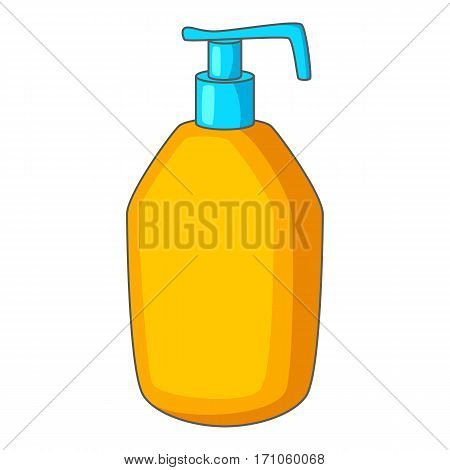 Bottle with liquid soap icon. Cartoon illustration of bottle with liquid soap vector icon for web