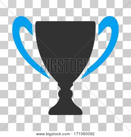 Cup icon. Vector illustration style is flat iconic bicolor symbol blue and gray colors transparent background. Designed for web and software interfaces.