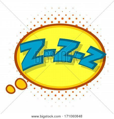 Zzz, speech bubble icon. Pop art illustration of Zzz, speech bubble vector icon for web