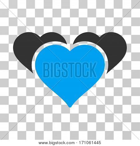 Favourite Hearts icon. Vector illustration style is flat iconic bicolor symbol blue and gray colors transparent background. Designed for web and software interfaces.