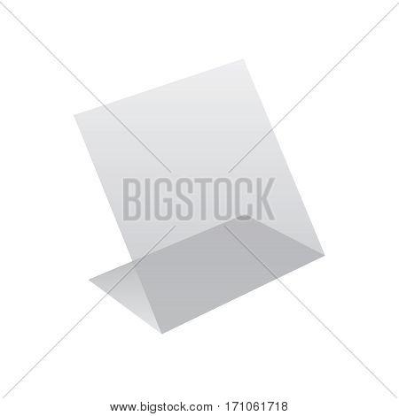 Plastic holder for business card. Holder for name card vector