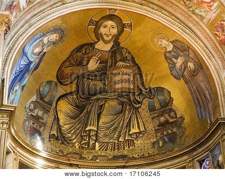 Jesus Christ - Pantokrator from Florence church - San Miniato al Monte