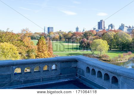 Belvedere Castle In Central Park Contains The Official Weather Station