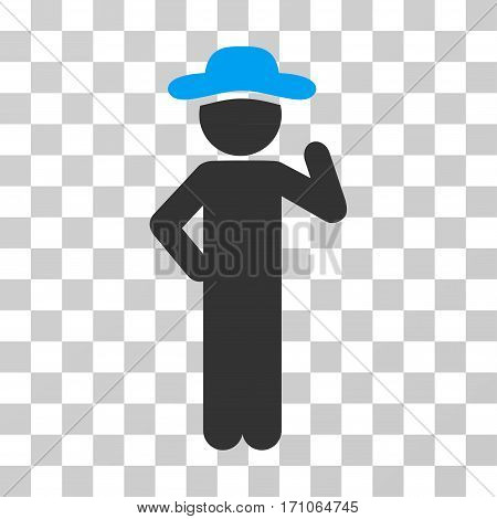Gentleman Proposal icon. Vector illustration style is flat iconic bicolor symbol blue and gray colors transparent background. Designed for web and software interfaces.