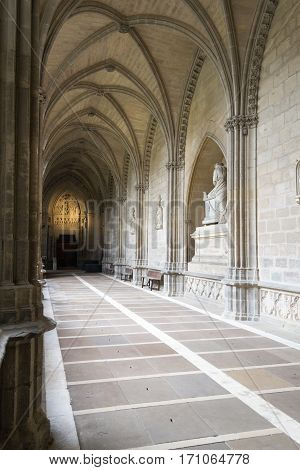 The Closters Are The Most Outstanding Element Of The The Cathedral Of Royal Saint Mary