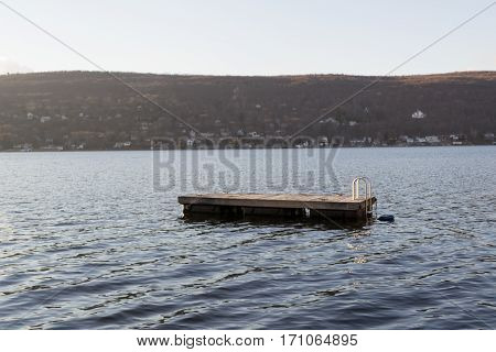 Floating Swimming Raft In Greenwood Lake(ny)