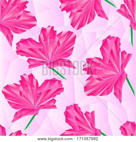 Flower pink simple rhododendron polygons Mountain shrub vector illustration