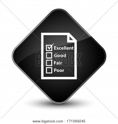 Questionnaire Icon Special Black Diamond Button