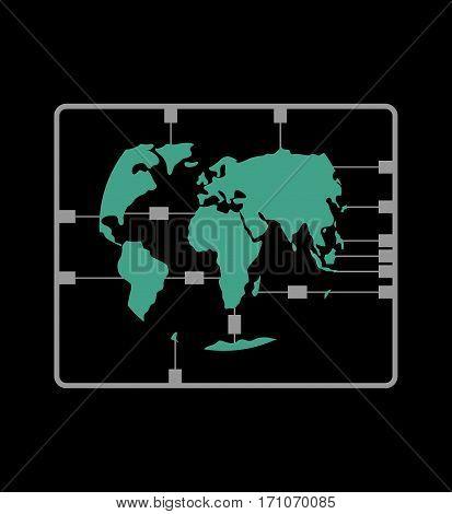 Earth Map Plastic Model Kit. Continents Sushi Set