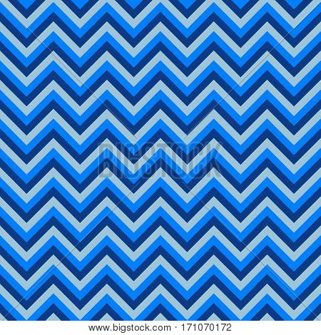 Seamless chevron pattern with blue lines. Vector illustration.  Background for dress, manufacturing, wallpapers, prints, gift wrap and scrapbook.