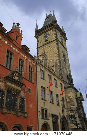 Old Town Hall Tower In Prague, Czech Republic