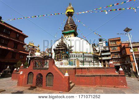 Kathesimbhu stupa it is buddhist stupa situated in old town of Kathmandu city Nepal