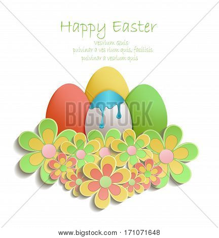 Easter Egg color flowers colors vector template