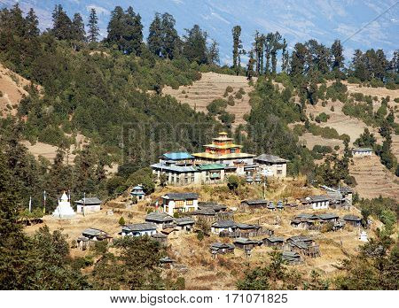 Kinggurding Gomba or Gompa Everest area Solukumbu region Nepal