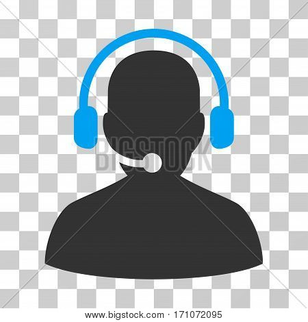 Telemarketing icon. Vector illustration style is flat iconic bicolor symbol blue and gray colors transparent background. Designed for web and software interfaces.