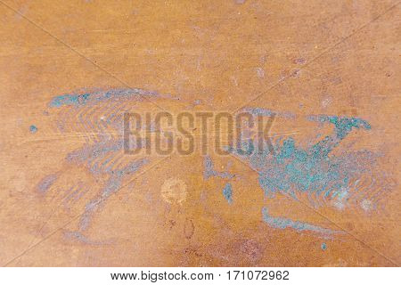 rusty and scratched colored metal panel background