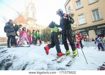 Kids Skiing In Bakaceva