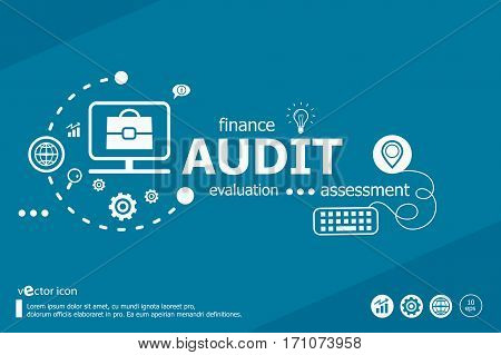 Audit Related Words And Marketing Concept. Infographic Business.