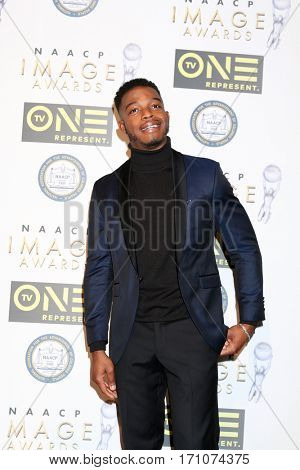 LOS ANGELES - FEB 10:  Stephan James at the Non-Televisied 48th NAACP Image Awards at Pasadena Conference Center on February 10, 2017 in Pasadena, CA