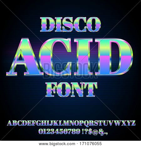 Acid House Font, Deep Progreesive Music Style Typeface Vector Font