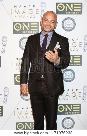 LOS ANGELES - FEB 10:  Anthony Hemmingway at the Non-Televisied 48th NAACP Image Awards at Pasadena Conference Center on February 10, 2017 in Pasadena, CA