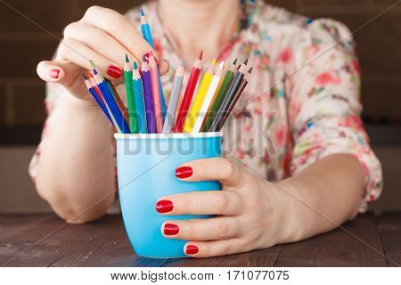 Choose One Pencil From Many Different Other