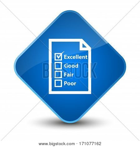 Questionnaire Icon Special Blue Diamond Button