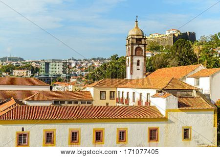 Fortelaza do Pico of Funchal. Madeira Portugal. Fortaleza de Sao Joao Baptista do Pico