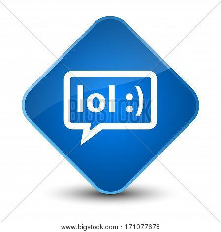 Lol Bubble Icon Special Blue Diamond Button