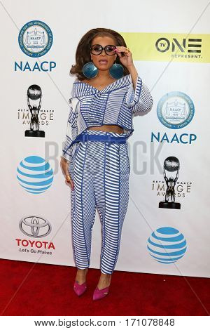 LOS ANGELES - FEB 11:  Andra Day at the 48th NAACP Image Awards Arrivals at Pasadena Conference Center on February 11, 2017 in Pasadena, CA