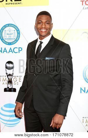 LOS ANGELES - FEB 11:  Justin Cornwell at the 48th NAACP Image Awards Arrivals at Pasadena Conference Center on February 11, 2017 in Pasadena, CA